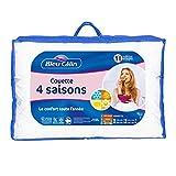 Bleu Câlin Couette 4 Saisons 1 à 2 Personnes, 3 Couettes en 1, Blanc, 200x200 cm, KTD
