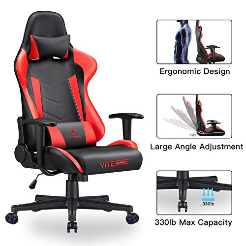 VIT Computer Gaming Chair Racing Style High-Back PC Chair...