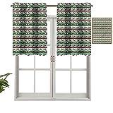Hiiiman Cenefa de cortina para ventana de privacidad interior, cenefa de renos, juego de 1, 137 x 45 cm para puerta corredera de patio o comedor