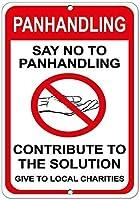 アイアンペインティングパンハンドリングノーハンドリングソリューションへの貢献-壁サインレトロなアイアンペインティングビンテージメタルポスター警告プラークアートインテリアバーカフェストアガレージ