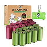 Biodegradable Dog Poop Bag 360 Count Extra Thick Dog Waste Bags Eco Friendly Pet Poop Bags with 1 Free Dispenser 18 Refill Roll Doggie/Doggy Poop Bags