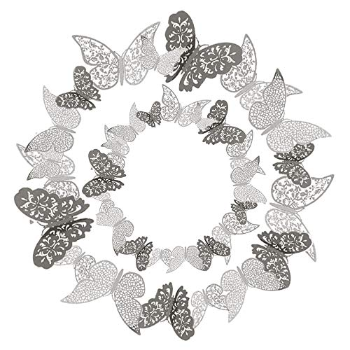 36 Pcs 3D Etiqueta Engomada Mariposa 3 Tamaños Pegatinas Decorar Muebles de Bricolaje Decoracion Boda Decoración del Hogar Extraíble Mural de Pared Decorativo