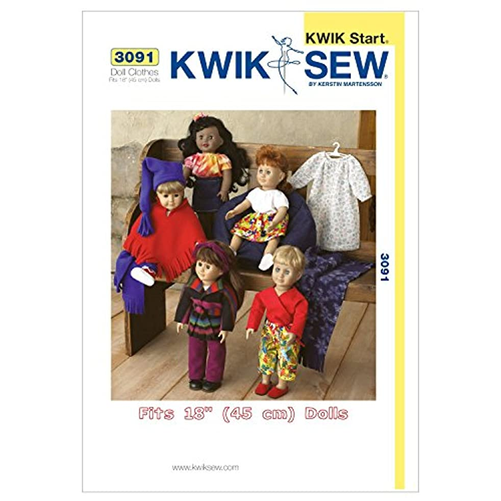 Kwik Sew K3091 Doll Clothes Sewing Pattern, Size Fits 18-Inch Dolls