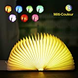 Lampe de livre LED, EVILTO Lampe de lecture pliante 7 couleurs Lampe de chevet Lampe...