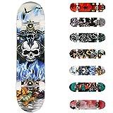 WeSkate Completo Skateboard para Principiantes, 80 x 20 cm 7 Capas Monopatín de Madera de...
