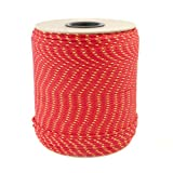 10m POLYPROPYLENSEIL 6mm ROT Polypropylen Seil Tauwerk PP Flechtleine Textilseil