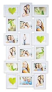 levandeo Bilderrahmen 96082 inklusiv Schrauben – Weiß für 18 Fotos 10×15 cm – Barock Antik nostalgisch Nostalgie Landhaus – Fotogalerie Collage Fotorahmen Bildergalerie