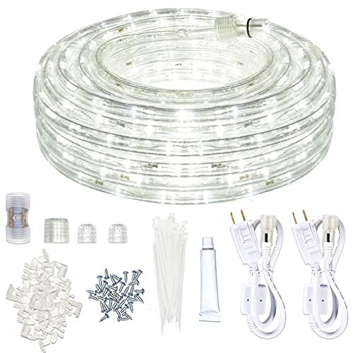 LED Rope Lights Outdoor SURNIE White 50ft Waterproof ...