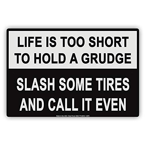 Odeletqweenry Metal Sign Life Is te kort om een ruwe Slash sommige banden vast te houden en noemen het zelfs humor grappige Notice Aluminium Metal Sign Plate(8