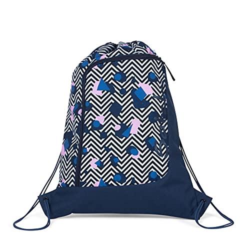 satch Stoney Mony Sporttasche, Unisex, Kinder, Schwarz/Weiß/Rosa, Einheitsgröße
