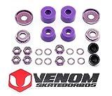 Venom Skateboards Kit de reconstrucción de bujes y tuercas universales para camiones - Cilindro - duro 96a