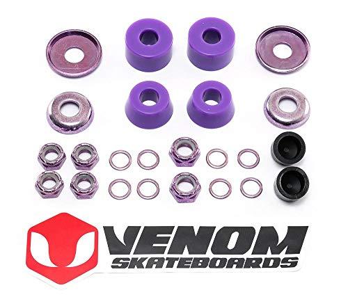 Venom Skateboards/Skateboards, eloxiert, universelles LKW-Rebuild Kit – Zylinder 80a/90a/96a INC Buchsen/Pivot Cups/Muttern etc., 96a / Hart