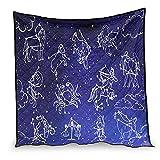 Dessionop Decoración para sofá o sofá con diseño de constelaciones espaciales, color blanco, 200 x 230 cm