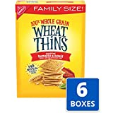 Wheat Thins Sundried Tomato and Basil Whole Grain Wheat Crackers, Family Size, 6 -15 oz Boxes