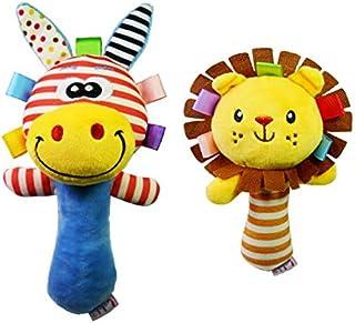 simhoa 2xDevelopment Cartoon Lion Animal Plush Toy Baby Kid Infant Hand Bell Rattle