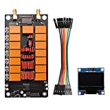 Kaxofang Sintonizador de Antena ATU-100 1.8-50MHz Sintonizador de Antena AutomáTico + Kit Terminado de Receptor de Amplificador Programado con Firmware OLED