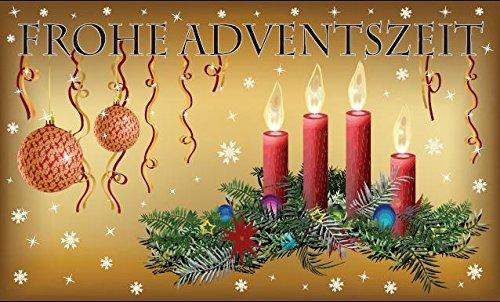 U24 Fahne Flagge Frohe Adventszeit Advent Weihnachten Weihnachtsfahne 90 x 150 cm