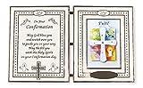 Marco de fotos para niños y niñas con certificado de confirmación de oración