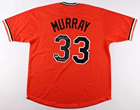 Eddie Murray Autographed Orange Baltimore Orioles Jersey - Hand Signed By Eddie Murray and Certified Authentic by Beckett - Includes Certificate of Authenticity - Inscribed HOF 2003