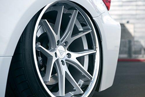 "20"" Inch Ferrada FR2 Silver Machine/Chrome Lip Concave Wheels Rims | Set of 4 | Fits Audi Mercedes BMW Infiniti Dodge Cadillac Chevy Ford Lexus Nissan Hyundai"