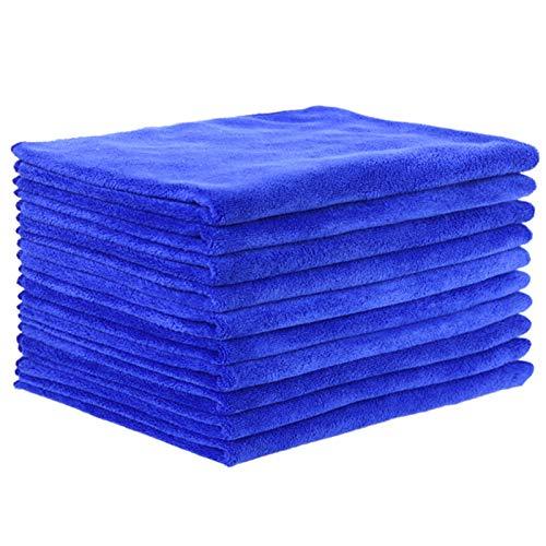 WSJQWHW Toallas, paquete de 10 toallas, 35 x 75 cm, especial para salones de belleza, peluquerías, peluquerías y peluquería, azul absorbente, no se desprende (tamaño: 35 x 75 cm (añadir grosor))