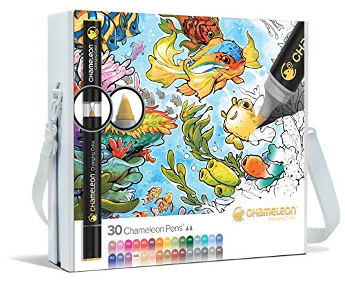 Chameleon Art Products - 30 deluxe rotuladores de alcohol permanentes