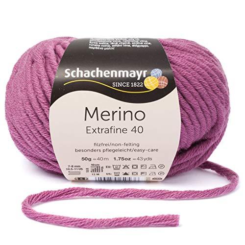 Schachenmayr Merino Extrafine 40 – Colore: Nostalgy (00343) – 50 g/ca. 40 m di lana.