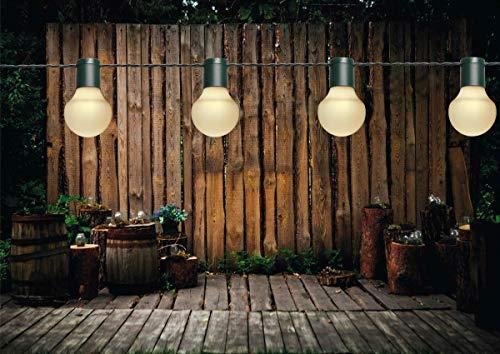 Coen Bakker LED Partylichterkette 10m Weiße LEDs 20er Ø 5cm Lichterkette
