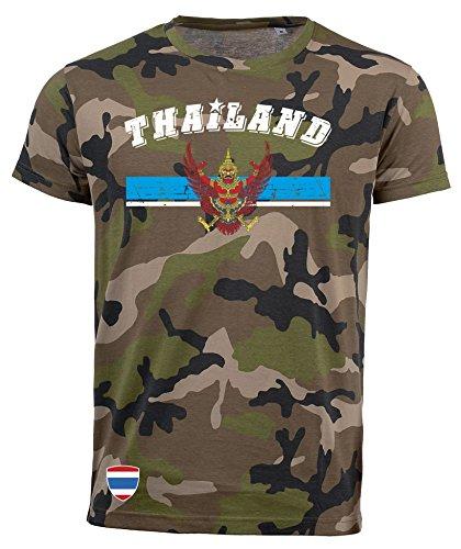 aprom NC D03 - Camiseta de Camuflaje para Tailandia Negro XL