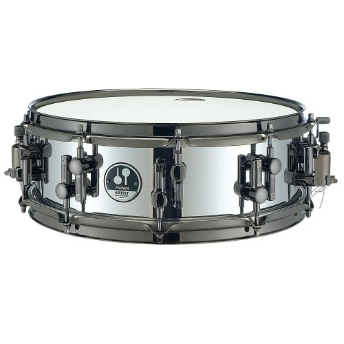 Sonor Artist AS 07 1405 SB Steel Snare Drum-Black Chrome