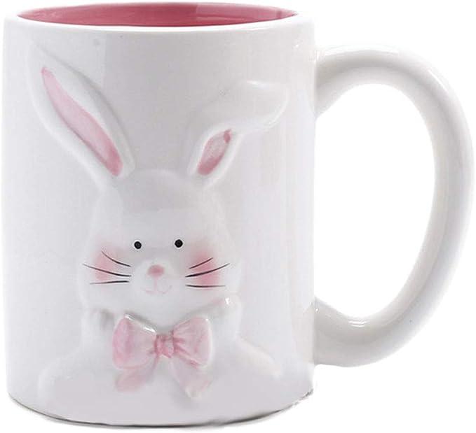 Zah Easter Bunny Coffee Mug Easter Decoration Gift For Kids Boys Girls Ceramic Mug Cup 12oz Rabbit 2 Kitchen Dining