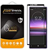 (2 Pack) Supershieldz Designed for Sony (Xperia 1) Tempered Glass Screen Protector, (Full Cover) (3D Curved Glass) Anti Scratch, Bubble Free (Black)