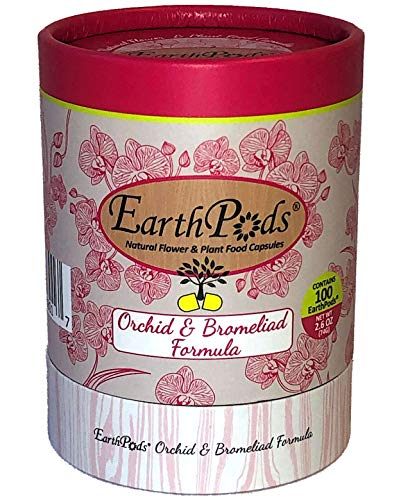 EarthPods Premium Orchid Plant Food – Easy Organic Fertilizer Spikes – 100 Capsules – Supports Flower Blooms, Roots & Leaves (Also Great for Bromeliads & Tillandsia Air Plants, No Urea, Ecofriendly)