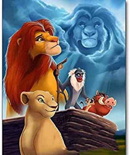 WOMGD® Film Cartoon legpuzzels 1000 stukjes, Lion King houten puzzel, entertainment speelgoed Diy Game Houten creatief cadeau Woondecoratie