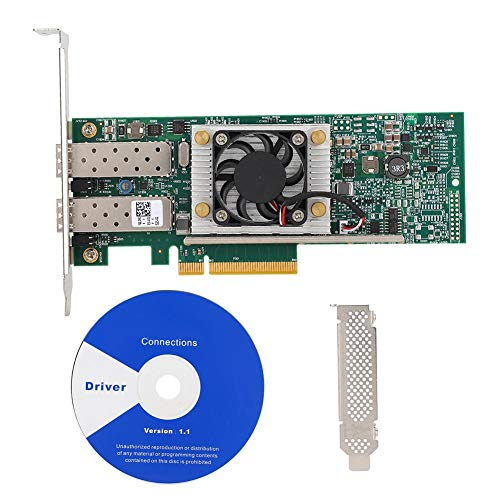 Tarjeta de red de 10 Gigabits, Tarjeta de red de fibra óptica de doble puerto de 10 GB 10 Gbps, Integrada para el chip maestro...