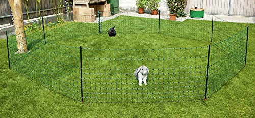 Kerbl 292216 Kaninchennetz 25 m, 65 cm Einzelspitz, grün