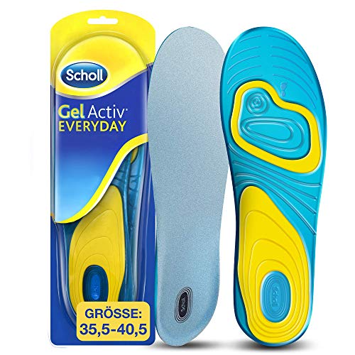 Scholl GelActiv Einlegesohlen Everyday für Freizeitschuhe von 35,5-40,5 – Verbesserter Komfort durch doppelte Polsterung – 1 Paar Gelsohlen