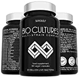 Probiotics Bio Cultures Complex - High Strength 20 Billion CFU and 15 Active Strains - 60 Delayed Release Vegan Capsules - Probiotic Supplements for Adults Women Men - Acidophilus and Bifidobacterium