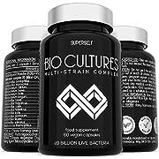 Probiotics Bio Cultures Complex - 20 Billion CFU & 15 Active Strains - 60 Acid-Resistant Capsules - Vegan Probiotic Supplements for Adults Women Men - Probiotic Tablets with Acidophilus