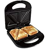 Sandwichera Electrica Grill para 2 Sandwiches We Houseware BN3396 Antiadherente 750 W - Negro