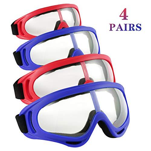 Locisne 4er Pack Schutzbrille, Winddicht Staubdicht Schutzbrille Flexible Eyewear Brillen für Outdoor-Sportarten CS Army Nerf Tactical Goggles Augenschutz