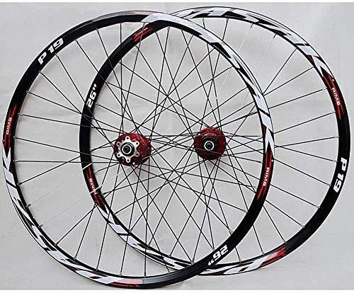 LILIS Ruedas De Bicicleta,Llantas Bicicleta Rueda del Freno de Disco MTB Rueda de Bicicleta Set 26 Pulgadas 27,5 Pulgadas 29 Pulgadas Tarjeta de Ruedas de Bicicletas de montaña
