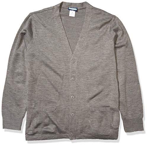 Classroom School Uniforms Men's Adult Unisex Cardigan Sweater, Heather Grey, X-Large