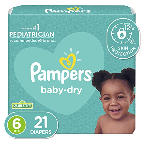 Diapers Size 6, 21 Count - Pampers Baby Dry Disposable Baby Diapers, Jumbo Pack