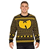 Wu Tang Clan Killer Bees Adult Black and Yellow Ugly Christmas Sweater (3X-Large)