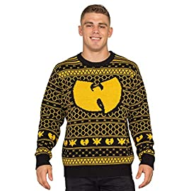 Wu Tang Clan Killer Bees Adult Black and Yellow Ugly Christmas Sweater 14 Adult Unisex Standard Fit Officially Licensed Ugly Christmas Sweater Please refer to size chart for accurate sizing