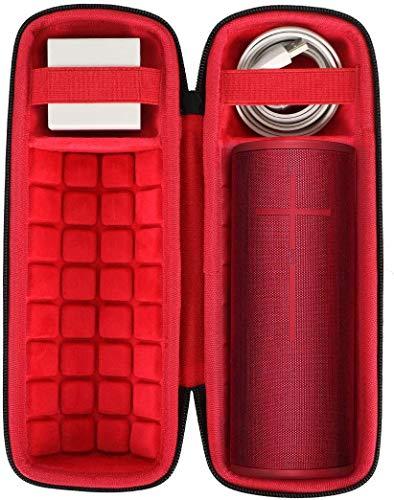 co2CREA Duro Viajar Caja Estuche Funda para Ultimate Ears Boom 3 Altavoz Portátil Inalámbrico Bluetooth(Rojo)
