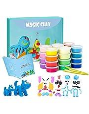 24色 ねんど 幼児 子供 おもちゃ 粘土 【超軽量 空気乾燥 】DIY キャラパーツ ツール付き 伸びられる 手につかず軽くて扱いやすい あんしん素材