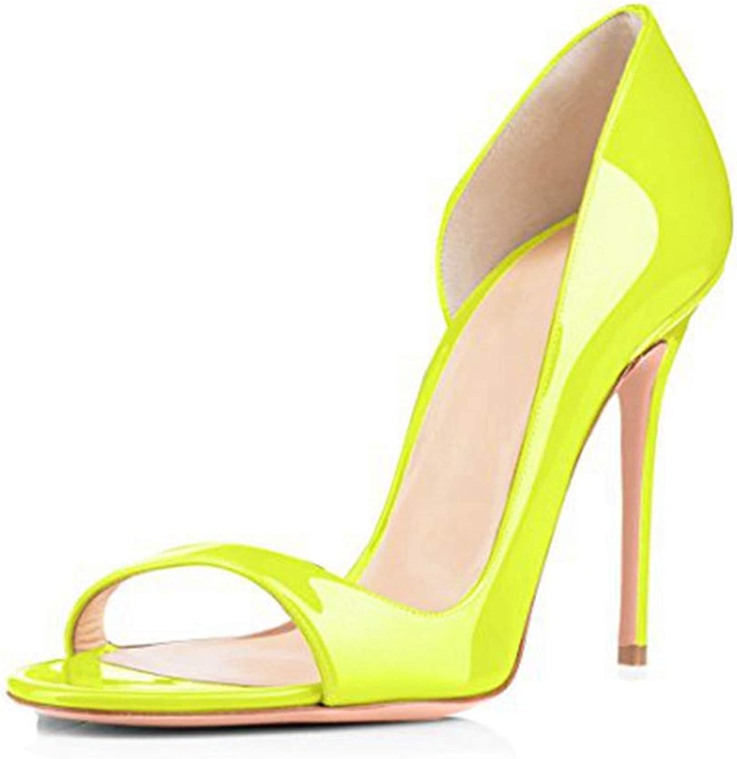 Women Heeled Sandal Ladies Thin High Heels Green Sandals Peep Toe Party Slip-on shoes