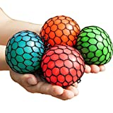 Bingole 4PCS Randomly Mesh Squishy Balls Stress Relief Squeeze Grape Balls Relieve Pressure Balls